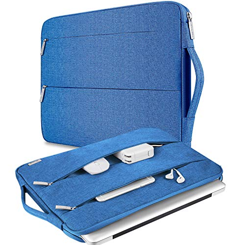 V Voova Laptop Case Compatible with 13-13.3 inch MacBook Pro,MacBook Air,13.5' Notebook Computer Bag,Protective Water Resistant Chromebook Sleeve Cover with Pocket,Light Blue