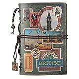 Carnet en cuir Maleden, vintage, carnet à croquis classique, rechargeable, pour filles et garçons...