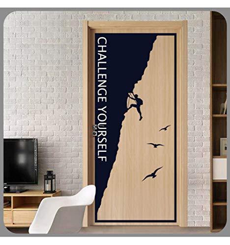 LSDAEER Wandtattoo Selbstklebend Modern Diy Vinyl Explorer Tür Aufkleber Schlafzimmer Wohnzimmer Wand Hintergrund Dekoration Aufkleber Kletterer Klettern Aufkleber