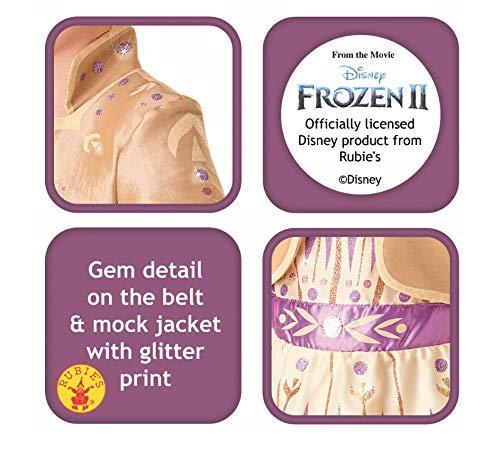 Rubie's, costume ufficiale Disney Frozen 2, Anna Deluxe, per bambini, taglia L, età 7-8 anni