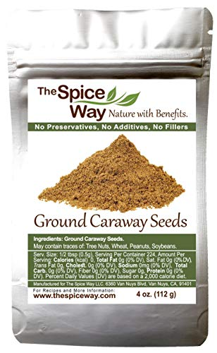 The Spice Way Caraway Seeds - Ground ( 4 oz ) key ingredient in harissa, great for rye bread, pickles, sauces and spice blends.