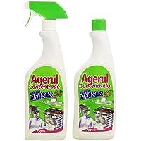 Agerul - Concentrado Quitagrasas - Botella de 750 ml + recambio de 750 ml - 1500 ml
