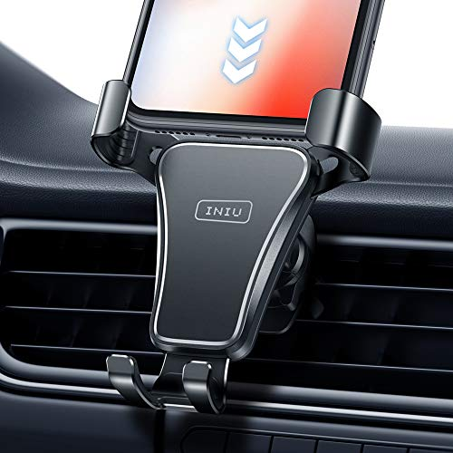 INIU - Soporte de teléfono para coche, ventilación de aire, soporte universal para teléfono celular, GPS, compatible con iPhone 11 Pro XS Max X 8 6S Plus Samsung S10 S9 Note 9 HTC Huawei Oneplus etc.