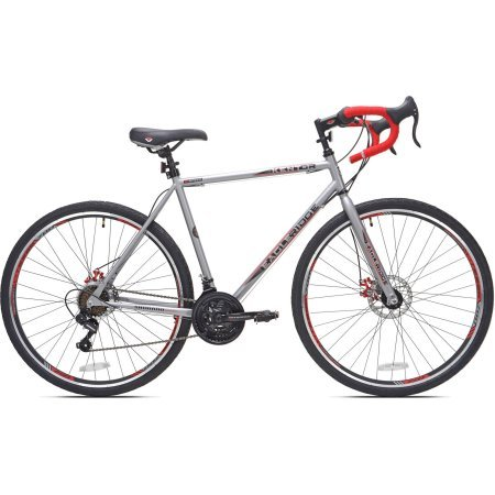 27.5' Kent Eagle Ridge Men's Bike Comfortable Vitesse Seat - Silver/Red