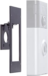 Adjustable (-45 to +45 Degree) Angle Mount for Ring Wi-Fi Enabled Video Doorbell, POPMAS Metal Angle Adjustment Adapter Mounting Plate Bracket Wedge Kit (Doorbell NOT Included)