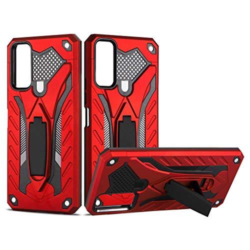 GOGME Cover per Vivo Y20s / Vivo Y20 Custodia, Custodia Protettiva in PC Ultra Sottile con Staffa, Sensazione di qualità + Silicone Antiurti Cellulare Custodia, Rosso