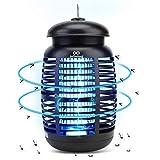 infinitoo Lampe Anti Moustique, 15W UV Tueur d'Insectes Électrique Anti Insectes Répulsif, Destructeur d' Insectes Piège à Mouches Efficace Portée 80m², Non Toxique pour Intérieur et Extérieur