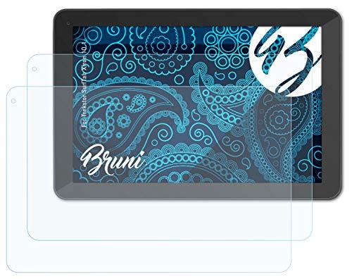 Bruni Schutzfolie kompatibel mit Trekstor SurfTab Xiron 10.1 Folie, glasklare Bildschirmschutzfolie (2X)