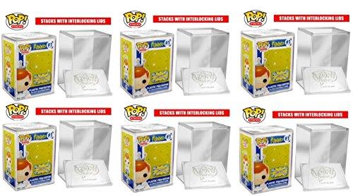 Funko POP STACKS 6-Pack #1 Seller - Hard Plastic Protector Case for Regular Size Funko Pop Boxed Figures