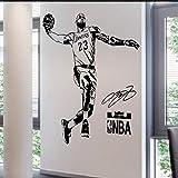 QINDONG Calcomanía de la Pared NBA Pegatina de la Pared de Baloncesto Deporte Star Star Stick Dormitorio Sala de Estar Avión Decorativo Etiqueta engomada de la Pared (tamaño Ver descripción)