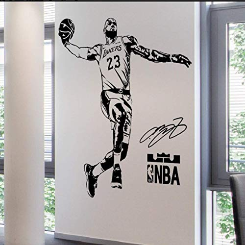 QINDONG Calcomanía de la Pared NBA Pegatina de la Pared de Baloncesto Deporte Star Star Stick Dormitorio Sala de Estar Avión Decorativo Etiqueta engomada de la Pared (tamaño Ver descripción)