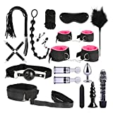 QYXJJ NoQYJ Erwachsener Spaß 17pcs / Set Bettspiel Spiel Nylon Binding Leder Spiele Spielzeug Kits for Paar Männer und Frauen (Color : Pink-a, Size : 1)