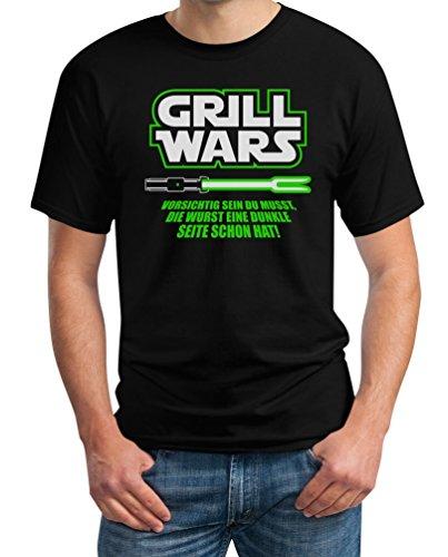 Geschenk für überirdische Grill Wars T-Shirt Medium Schwarz