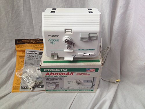 Presto Above All Automatic Under Cabinet Deluxe Can Opener (4b9614)