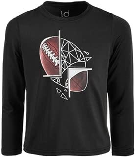 Ideology Toddler Boys Football-Print T-Shirt Noir 2T