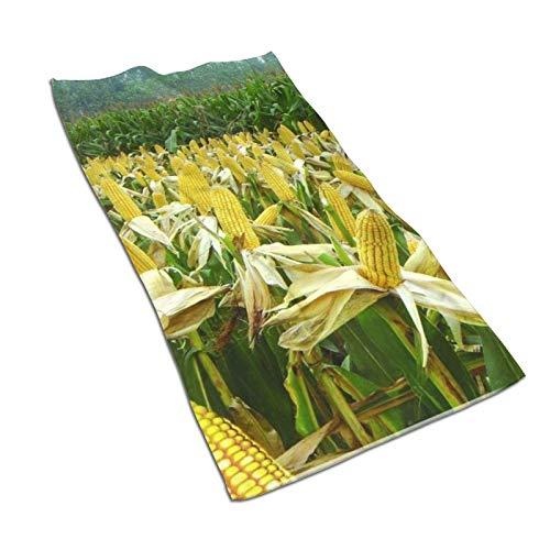 Toallas de maíz Toallas de baño de secado rápido de alta calidad de absorción súper suave de algodón baños, piscinas, cocinas de hotel (30,5 x 60,5 cm)