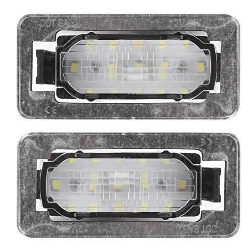 WAQU Luz de matrícula: par de lámpara de matrícula Trasera de 12 V, luz LED Blanca de 6000 K, Compatible con 300 Todos los Modelos 2014-2019
