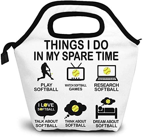 Cosas que hago en mi tiempo libre Elegante, aislado, reutilizable, nevera, almuerzo, a prueba de fugas, bolso de mano, bolso para oficina, trabajo, picnic, senderismo, playa