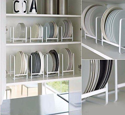 NAOE Steel Plate Organizing Rack (Set fo 2)(White)