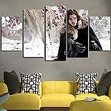 Yumeng® - Cuadro En Lienzo Decoracion 5 Piezas HD Imagen Impresiones En Lienzo Serie de televisión J...