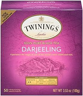 Twinings of London Darjeeling Tea Bags, 50 Count (Pack of 6)