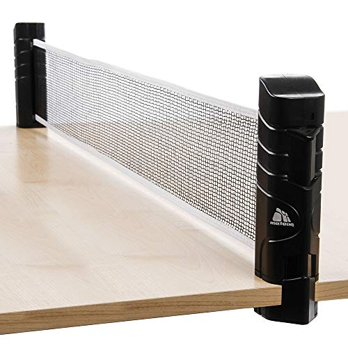 meteor Table Tennis Net Portable 200 cm / 79 inch Instant Retractable Replacement Ping Pong Rack Accessory Nets Adjustable Any Table Travel Holder Indoor Outdoor Sports Accessories Great