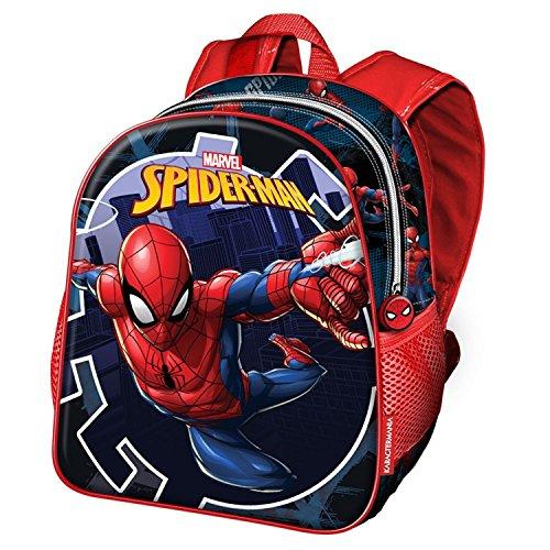 Karactermania Spiderman Hero-Nursery Backpack Kinder-Rucksack, 30 cm, 7 liters, Blau (Blue)