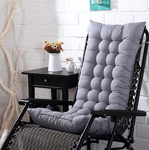 WanJing Cojín para tumbona, para exteriores, interiores, muebles de jardín, cojín de repuesto, cómodo, grueso, duradero, portátil, para vacaciones, viajes, 110 cm, color gris