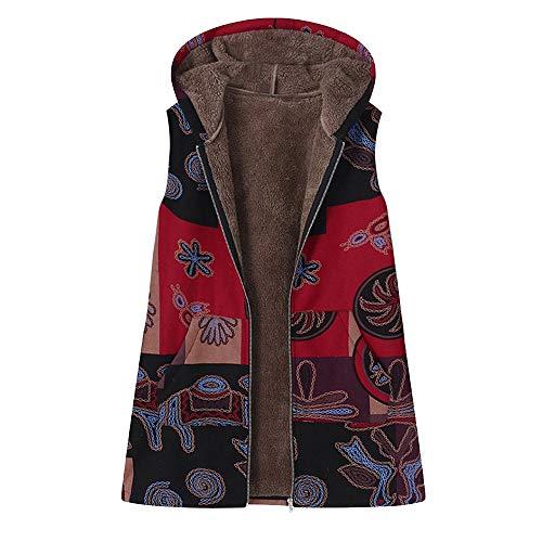 NEVRTP Plus Size Frauen mit Kapuze Langarm Baumwolle Leinen Flauschigen Retro Reißverschluss Mantel Outwear Parka Jacke Oversize Langram Sweatjacke Baumwolle und Leinen Übergangsmantel