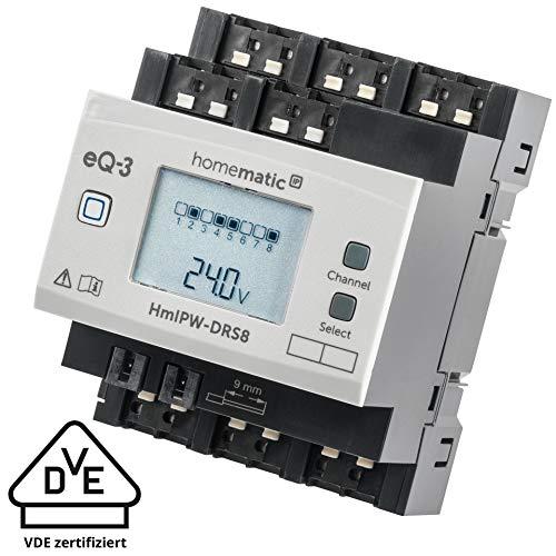 Homematic IP Wired 8-fach-Schaltaktor HmIPW-DRS8