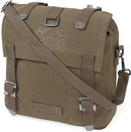 normani BW Kampftasche klein Umhängetasche Canvas Bag in vielen Farben Farbe Beige