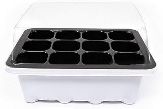 Ruiting 12 Células Agujero Seedling Bandejas de Arranque Semillas de Plantas Grow Box Insert Propagación Nursery Pots Blanco 3pcs / Set