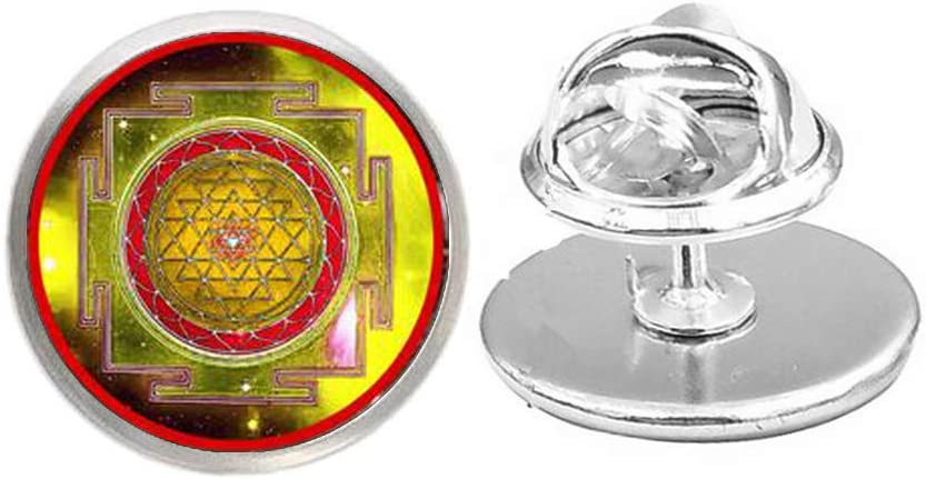 Handmade Sri Yantra Brooch New life 100% quality warranty Pin Her for Sacr Him Gift