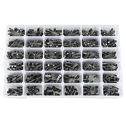 990 piezas de bricolaje alto condensador electrolítico kit surtido 36 valores10V ~ 50V 0.1uF a 1000uF