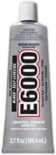 Eclectic Products 230031 3.7 oz. E6000 Medium Viscosity Industrial Strength Adhesive, Black