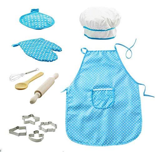 YUY Juego Hornear para Niños Cocina para Niños Juego Simulación Juguetes Navideños para Niñas Niños 11 Piezas Juego Cocina para Hornear Navidad Festivales Regalos Juguetes,Blue