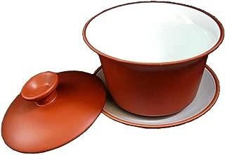 Yixing Teacup 5oz/150ml Kungfu Tea Bowl White Glaze Gaiwan Cup