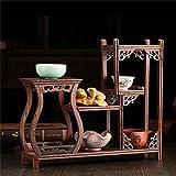 HUA RACKS Pflanze Retro chinesischen Stil Blumenständer Massivholz Topf Rack Regal Tee Rack Huhn Flügel Holz Schatz Pavillon Display-Ständer Zubehör