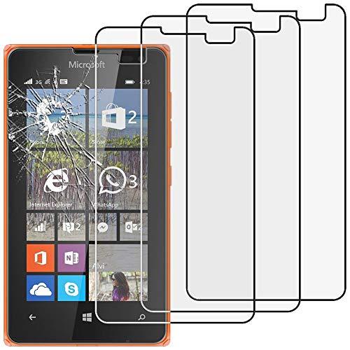ebestStar - kompatibel mit Microsoft Lumia 435 Panzerglas x3 Schutzfolie Glas, Schutzglas Bildschirmschutz, Bildschirmschutzfolie 9H gehärtes Glas [Lumia 435: 118.1 x 64.7 x 11.7mm, 4.0'']