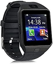 Coolmobiz Bluetooth Smart Wrist Watch Activity Trackers and Fitness Band Features Compatible with All Android, iOS and Windows Devices (Black) (Black)