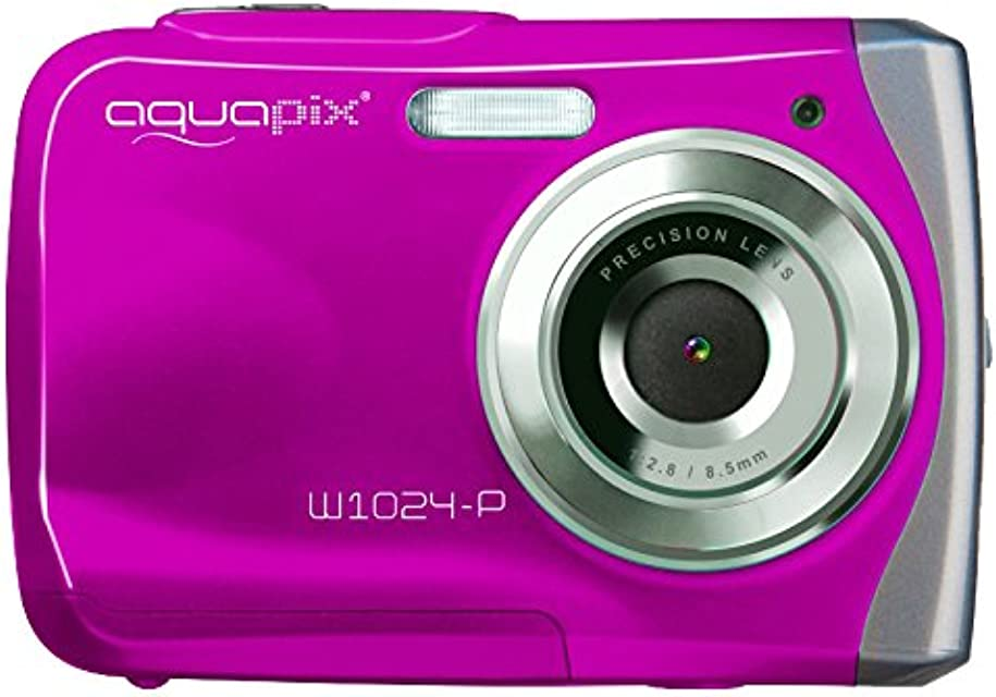 Easypix W1024 - Cámara compacta de 10 Mp (pantalla de 2.4 zoom digital 4x) color rosa (importado)