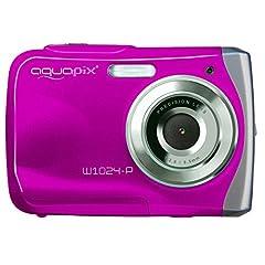 Easypix W1024 Splash digitalkamera (10 megapixel, 4x digital zoom, 6,1 cm (2,4 tum) skärm) rosa
