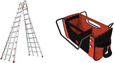 Little Giant Ladders, Skyscraper, M21, 11-21 Foot, Stepladder, Aluminum, Type 1A, 300 lbs Weight Rating, (10121) & Giant Ladd