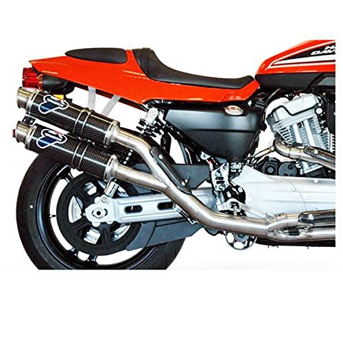 mototopgun termignoni scarico round carbonio racing compatibile con harley davidson xr 1200 r