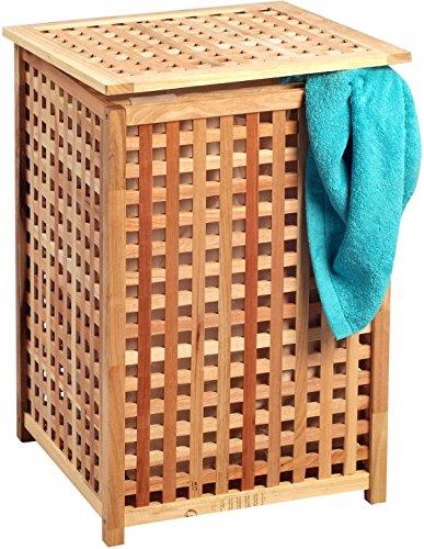 HomeTrends4You Tvättstuga, trä, valnöt massivt oljad, 46 x 67 x 46 cm