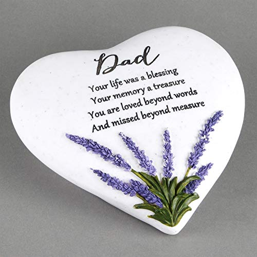 Thoughts Of You Heart Outdoor Memorial Plaque with Lavender design, Dad 61966