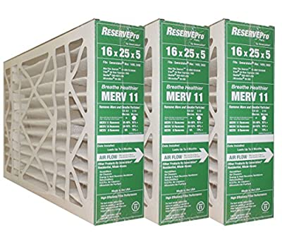 """GeneralAire # 4541 MERV 11 for # GF 4511 ReservePro 16x25x5 furnace filter, Actual Size:15 5/8"""" x 24 3/16"""" x 4 15/16"""" Case of 3 Filters- MEASURE CAREFULLY BEFORE ORDERING !"""