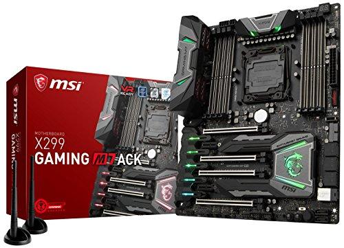 MSI Arsenal Gaming Intel X299 LGA 2066 DDR4 USB 3.1 SLI ATX Motherboard (X299 Tomahawk AC)