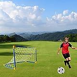 iVansa Minitore Set mit Fußball-Tür-Korb - Pop up Tor - Selbstaufstellende Fußballtor, Air Power Fußball