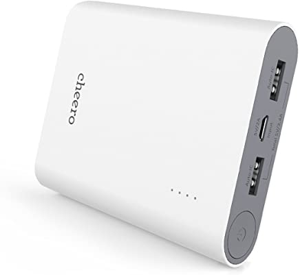 cheero Power Plus 3 13400mAh 大容量 モバイルバッテリー iPhone&Android対応 2ポート Auto-IC機能搭載 (ホワイト) CHE-059-WH